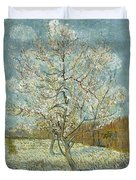The Pink Peach Tree Duvet Cover
