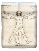 The Proportions Of The Human Figure Duvet Cover