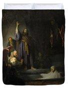 The Raising Of Lazarus Duvet Cover