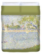 The Seine Seen From La Grande Jatte Duvet Cover