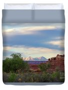 The Shining Mountains Duvet Cover