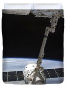 The Spacex Dragon Cargo Craft Duvet Cover by Stocktrek Images