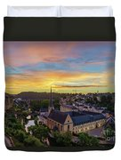 The Superb View Of The Grund, Luxembourg Duvet Cover