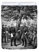The Surrender Of General Lee Duvet Cover