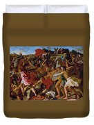 The Victory Of Joshua Over The Amalekites Duvet Cover
