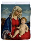 The Virgin And Child Duvet Cover