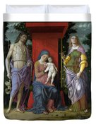 The Virgin And Child With Saints Duvet Cover
