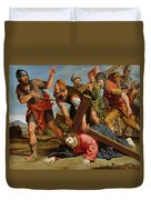 The Way To Calvary Duvet Cover