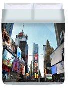 Times Square New York City Duvet Cover