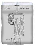 Toilet Paper Roll Patent 1891 Duvet Cover