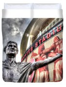 Tony Adams Statue Emirates Stadium Duvet Cover