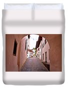 Town Of Kastelruth Street View Duvet Cover