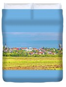 Town Of Vrbovec Landscape And Architecture Duvet Cover