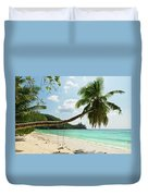 Tropical Beach At Mahe Island Seychelles Duvet Cover