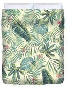 Tropical Leaves Pattern Duvet Cover