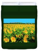 Tuscany Sunflowers Duvet Cover