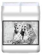 Two Cheetahs Duvet Cover