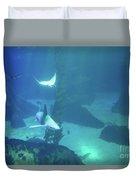 Underwater Blue Background Duvet Cover