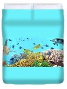 Underwater Panorama Duvet Cover
