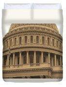 United States Capitol Building Sepia Duvet Cover