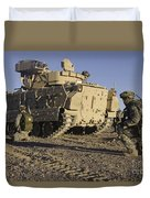 U.s. Army Soldiers Provide Security Duvet Cover