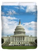 Us Capitol Washington Dc Negative Duvet Cover