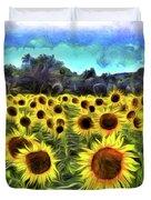 Van Gogh Sunflowers Duvet Cover