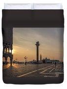 Venice At Sunset Duvet Cover