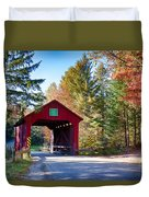 Vermonts Moseley Covered Bridge Duvet Cover