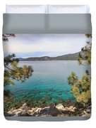 View Across Lake Tahoe Duvet Cover