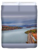 View From The Bear Mountain Bridge Duvet Cover