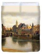 View Of Delft Duvet Cover by Jan Vermeer