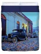 Vintage Cars In Colonia Del Sacramento, Uruguay Duvet Cover