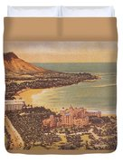 Vintage Hawaiian Art Duvet Cover