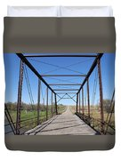 Vintage Steel Girder Bridge Duvet Cover