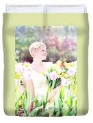 Vintage Val Spring Tulips Duvet Cover