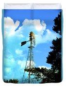 Vintage Windmill Duvet Cover