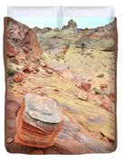 Wash 3 Color In Valley Of Fire Duvet Cover