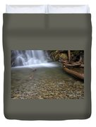 Waterfall, Quebec Duvet Cover