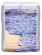 Waves Breaking On Tropical Shore Duvet Cover