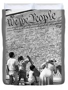 We The People Signing Bicentennial Of The Constitution Tucson Arizona 1987 Duvet Cover