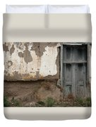 Weathered Door In A Wall Duvet Cover