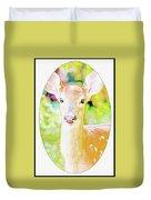 White-tailed Virginia Deer Fawn Duvet Cover