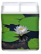 2- White Water Lily Duvet Cover