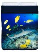 Whitetip Reef Shark Duvet Cover