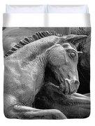 Wild Mustang Statue I V Duvet Cover