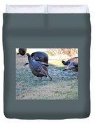 Wild Turkeys. Duvet Cover