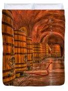 Wine Barrels Duvet Cover