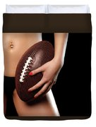 Woman With A Football Duvet Cover