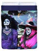 2 Women Day Of The Dead  Duvet Cover